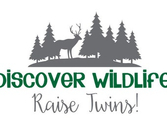 Discover Wildlife: Raise Twins - vinyl wall decal