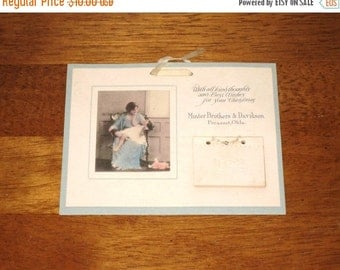 1922 Miniature Calendar / Hand Tinted Photo Of Mother & Child Advertising Calendar