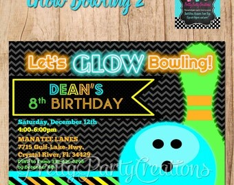 GLOW BOWLING (2) invitation - YOU Print