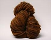 Bulky Thick and Thin Merino Yarn Handspun Wool Slub  Hand Dyed tts(tm) Chocolate Rice 000x