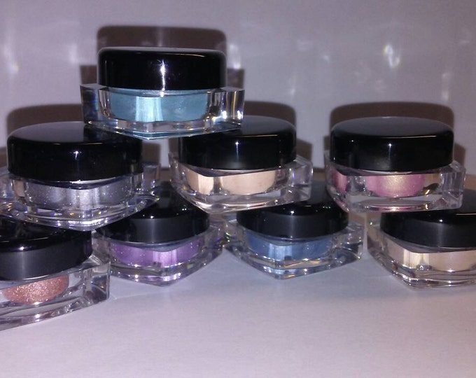 Featured listing image: EYE SHADOW SET 8pc Organic UPick your own shades. Beauty Minerals Vegan All Natural Vegan