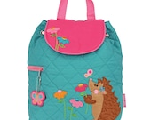 NEW Stephen Joseph Hedgehog Backpack, Personalized Free