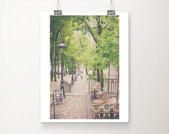 Paris photography Montmartre steps photograph Montmartre photograph travel photography wanderlust art Paris decor Spring photograph