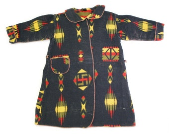 1930s Child's Beacon Blanket Robe Jacket
