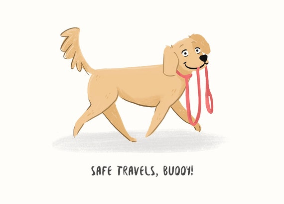 Safe Travels Card - Going Away Card - Bon Voyage!