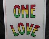 One Love handmade card