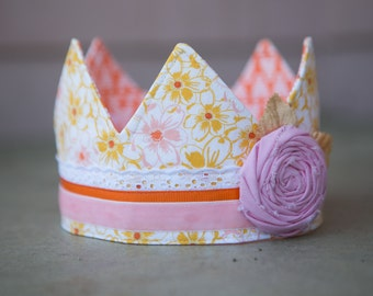 Fabric Crown - Princess Daisy