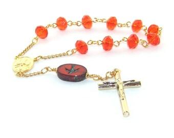 Fiat of Mary Decima Rosary, Single Decade Red Pocket Rosary