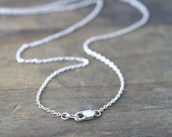 Sterling Silver Necklace - Cable Chain Necklace - 925 Sterling Silver Jewelry - Handmade by Burnish