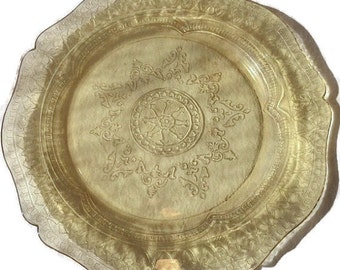 Federal Glass Normandie Plate