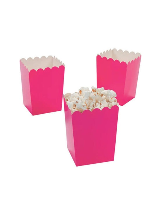 Black Treat Favor Boxes : Hot pink popcorn boxes ct treat by dimestorebuddy