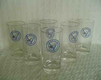 Oldsmobile Vanguard Glasses/Tumblers, Advertising Glasses, Oldsmobile Advertising Drinking Glasses, Vintage, Collectible - GREAT,