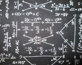Math Chemistry Equations Black White Cotton Fabric Fat Quarter or Custom  Listing