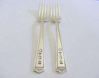 Wedding Forks I do me too wedding forks with heart stamp
