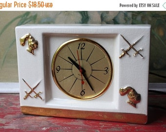 ON SALE %30 OFF Mid Century Ceramic Electric Clock By Howell