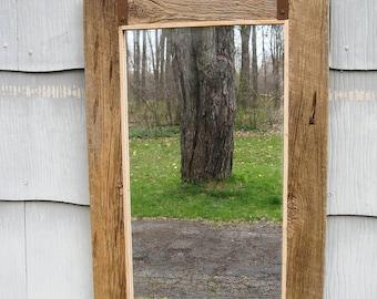 SOLD Medium Rustic Primitive Barn Wood Mirror no.1609