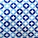 Flannel Fabric by the Yard in a Light Blue and Navy Blue Mosiac Print 1 Yard