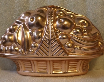 Mirro Copper Mold Fruit Basket Wall Decor Jello Mold Salad Aluminum
