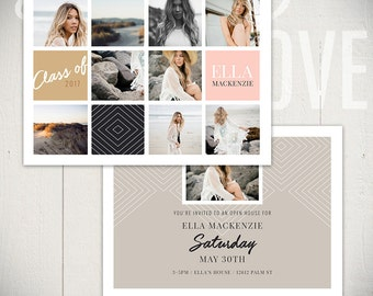 Graduation Announcement Card Template: Wayfarer Card B - 5x7 Senior Card Template