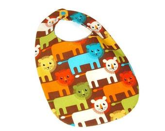 Baby Boy Bib -  Lions - Lion Cubs - Baby Gift Under 10