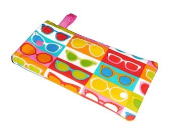 Sunglasses Pouch -Teacher Gift- Gift for Mom - Sunnies - Eyeglasses Case