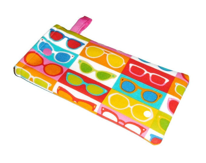 Sunglasses Pouch -Teacher Gift- Gift for Mom - Sunnies - Eyeglasses Case