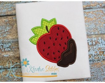 Strawberry Dipped Applique