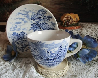 Enoch Wedgwood Countryside Teacup and Saucer   England