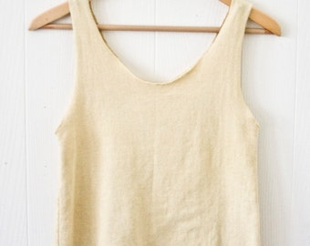 Nyphea Crop - Hemp - Organic Cotton - Herbal Dye -  Women's Top -  Natural Clothing -  Juniperous
