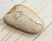 Sterling Silver Lightning Cloud Lariat Necklace
