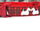 Dog Collar -Tartan Scottie Dog - 50% Profits to Dog Rescue