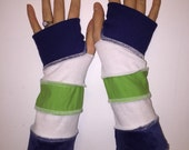 Seahawks arm warmers  upcycled 12th man by HopeFloats Large