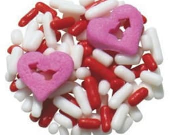Lovestruck Valentines Day Edible Confetti Sprinkles Cake Cookie Cupcake  1 Pound