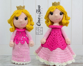 Combo Pack - Princess Rose Lovey and Amigurumi Set for 7.99 Dollars - PDF Crochet Pattern Instant Download - Special Offer