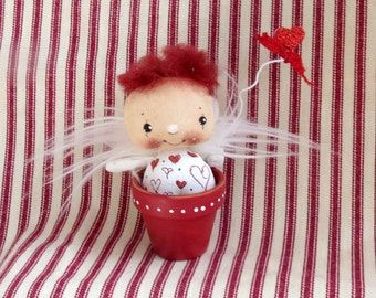 OOAK, Little Angel , Fairy doll ,  Cloth doll Angel , gift for her , Decoration Fairy , Angel ornament , Collectable Angel , Tiny Fairy
