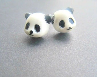 Panda Bear Stud Earrings