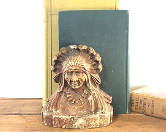 Vintage Native American Bookend
