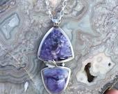 Bertrandite Tiffany Opal Multi Stone Sterling Silver Necklace