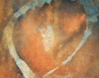 Venus of Laussel prayer card