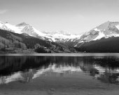 Colorado Mountain Lake Photography Print 11x14 Fine Art Telluride Black and White Wilderness Autumn Landscape Photography Print.