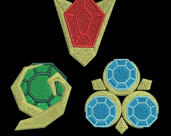 Zelda Machine Embroidery design - Ocarina Gems 4x4