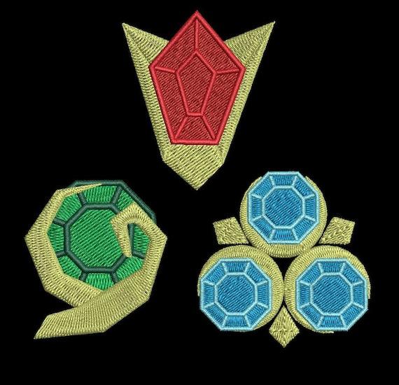 Zelda Machine Embroidery Design Ocarina Gems 4x4