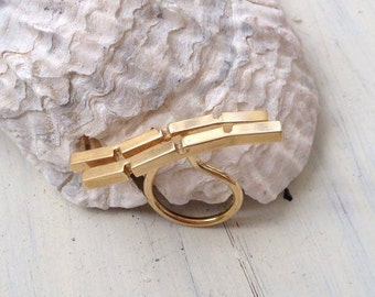 Open Bar Ring,Parallel Bar Ring,Gold Bar Ring,Modern Ring,Open Ring,Modern Minimalist Ring,Line Ring