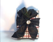 Farther's Day Gift Wrap Gift Cards Pre-wrapped Gift Box Grooms Plaid Gift Ideas Simple Trending Birthday Handmade Peacock 5 x 7 Decoration