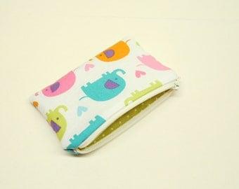 pink elephant coin purse green elephant change purse blue elephant zipper pouch small elephant zipper bag small elephant wallet money bag
