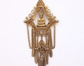 Vintage Buddha Multi Strand Necklace