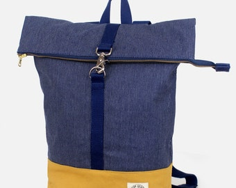 Brightday Backpack: Denim Stitch