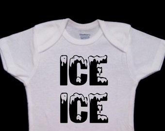 Ice Ice Baby Funny Onesie Bodysuit