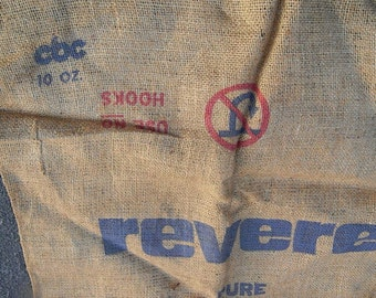 Old Revere Sugar Burlap Sack