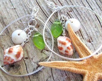 Forest in the Sea Shell Earrings